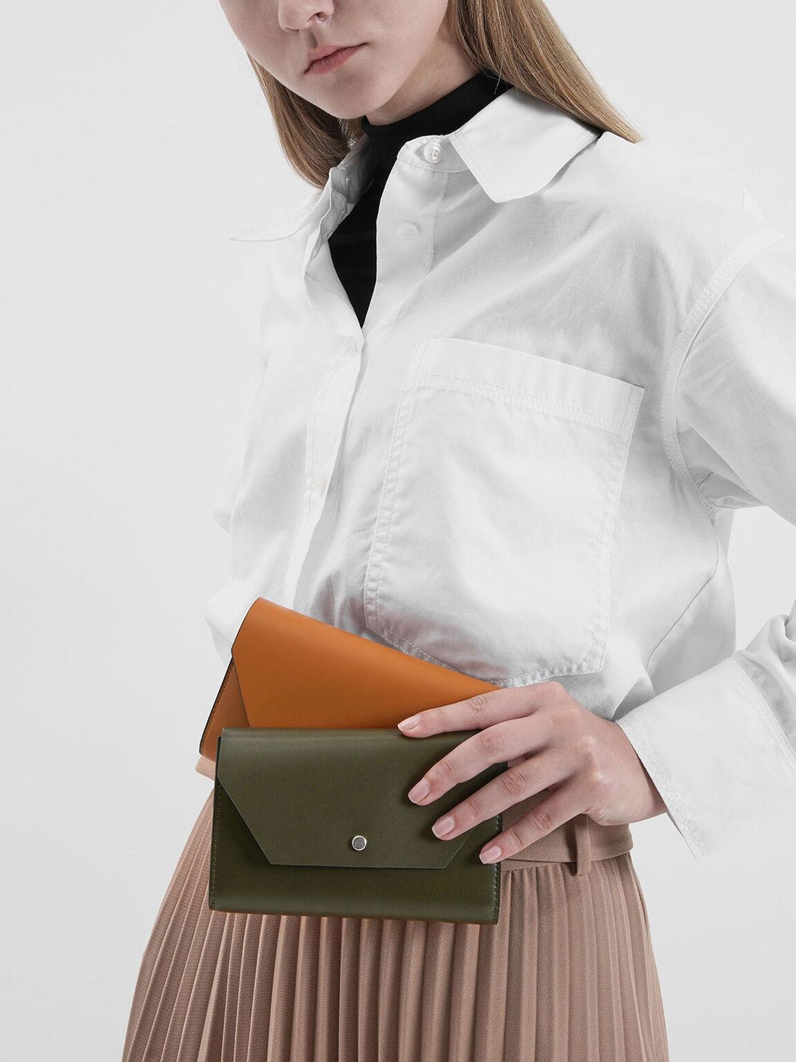 Reversible Front Flap Passport Holder, Olive, hi-res