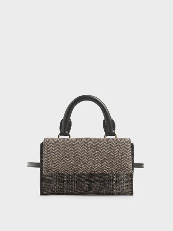 Tweed Rectangular Belt Bag, Multi, hi-res
