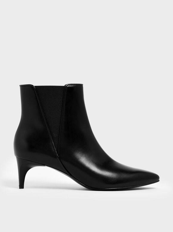 Kitten Heel Chelsea Boots, Black, hi-res