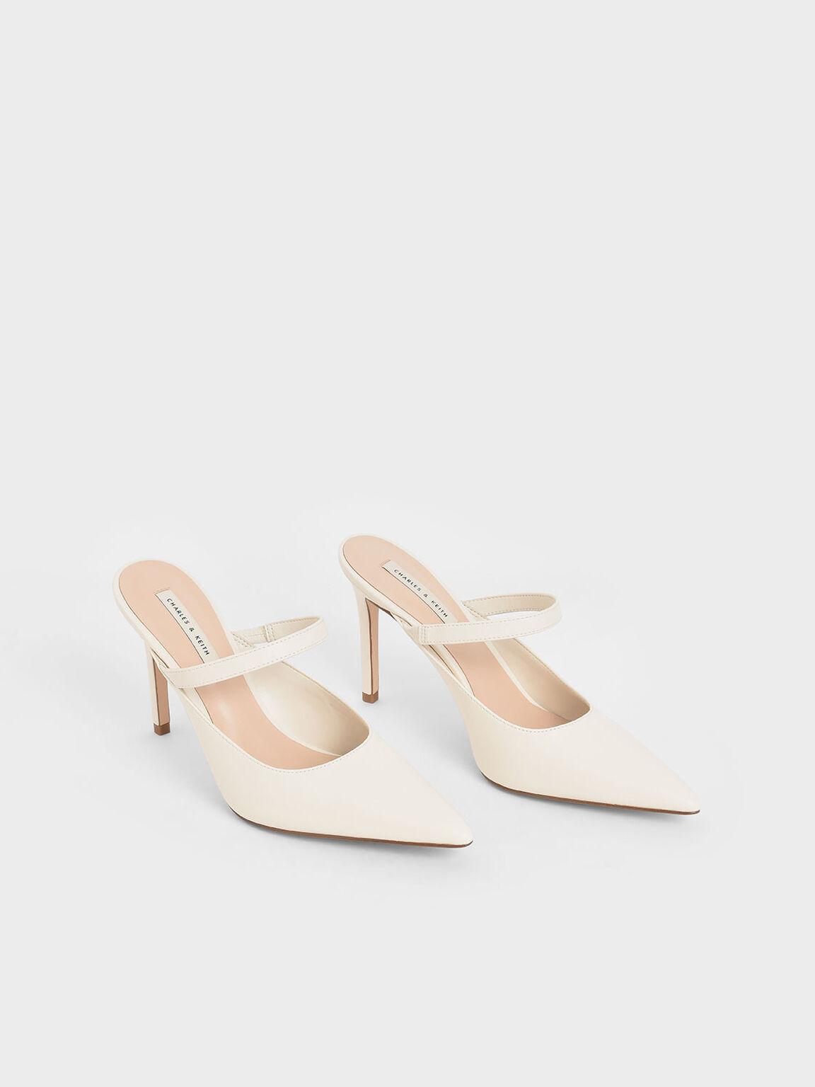 Mary Jane Stiletto Heel Mules, Chalk, hi-res