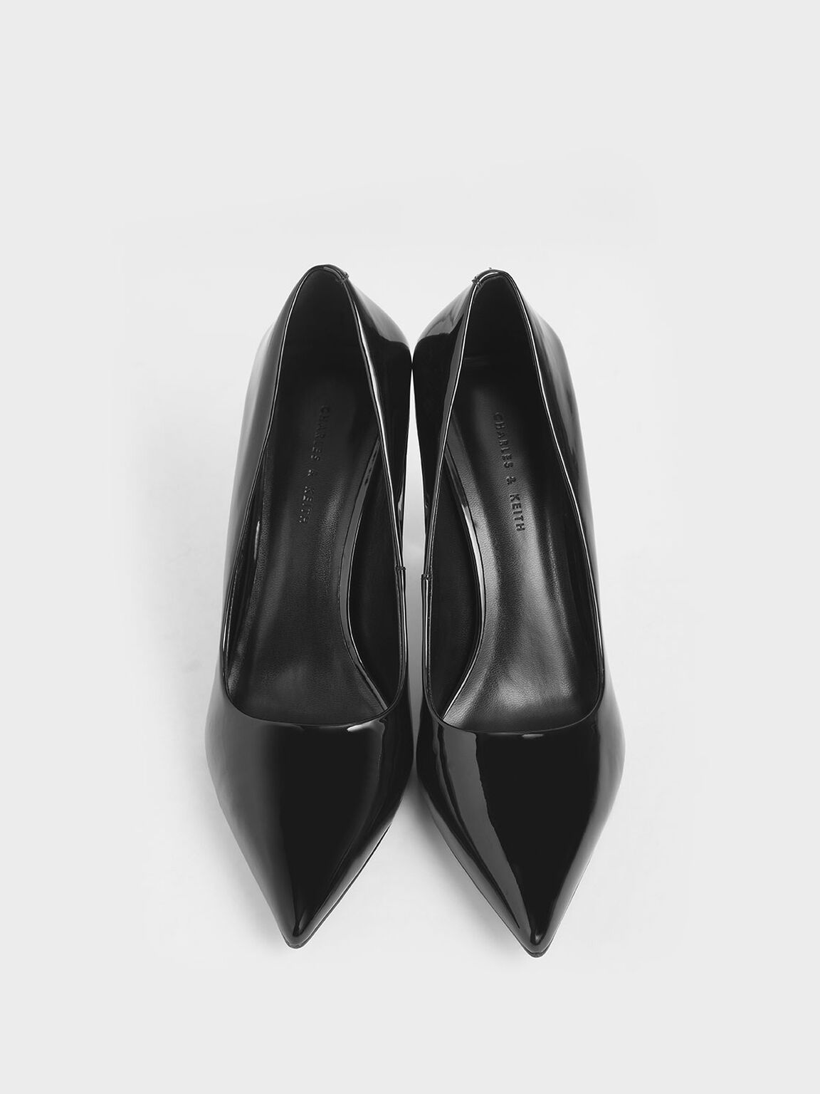Patent Blade Heel Pumps, Black, hi-res