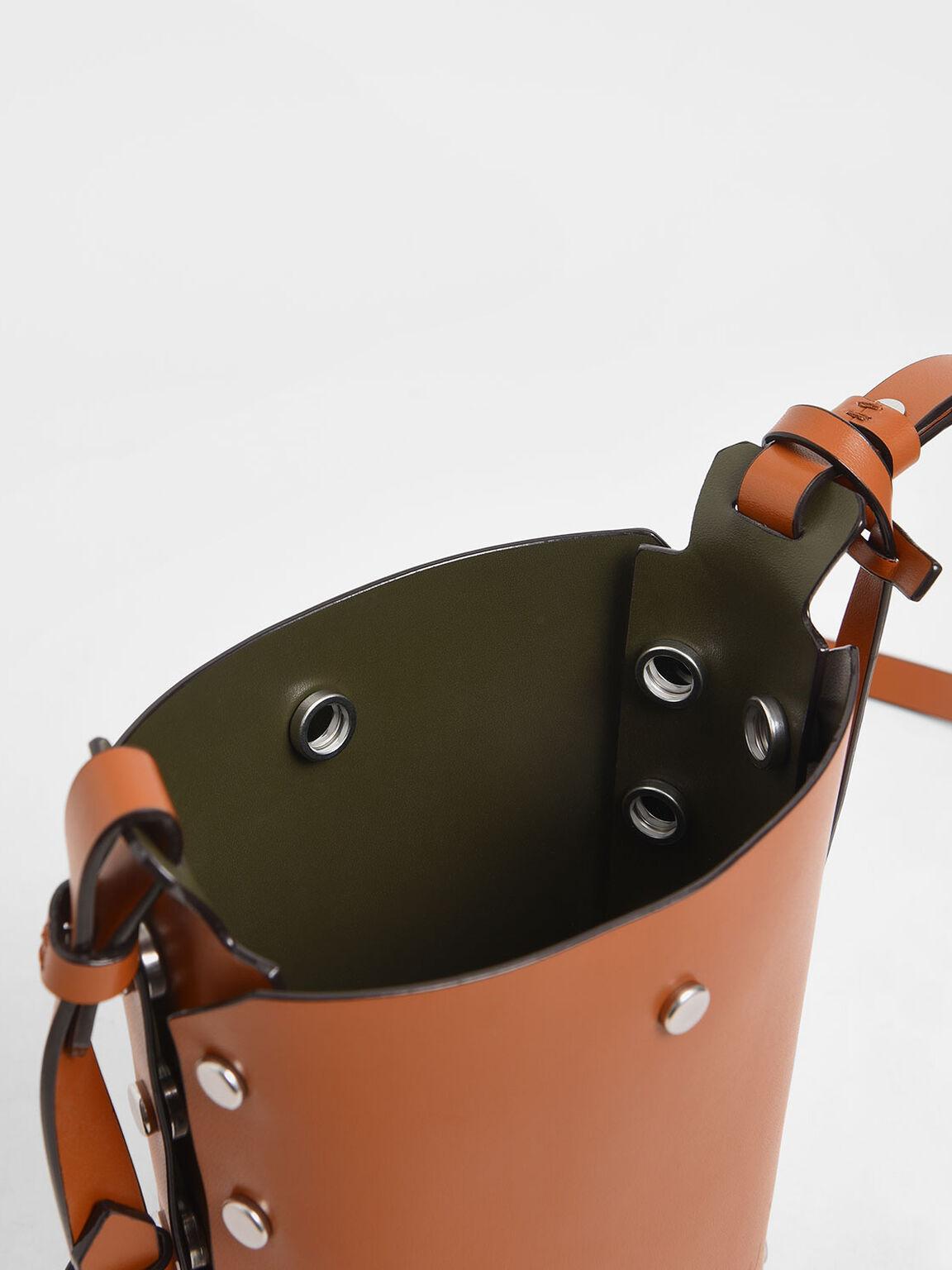 Mini Reversible Studded Crossbody Bag, Tan, hi-res