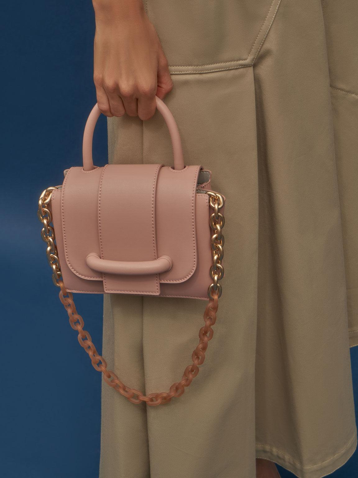 Chain Strap Mini Bag, Blush, hi-res