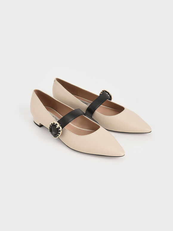 Mary Jane Flats Green Patent Leather White Mary Jane Shoes Retro Vintage Mary Janes Three Tone Ankle Strap Ballet Flats Leather Lining