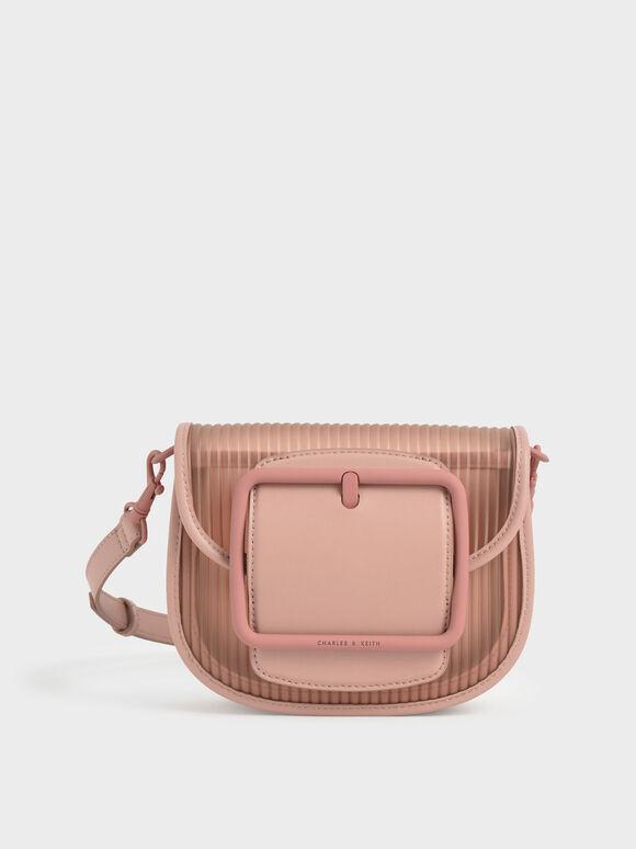 Acrylic Chain Handle Crossbody Bag, Blush, hi-res