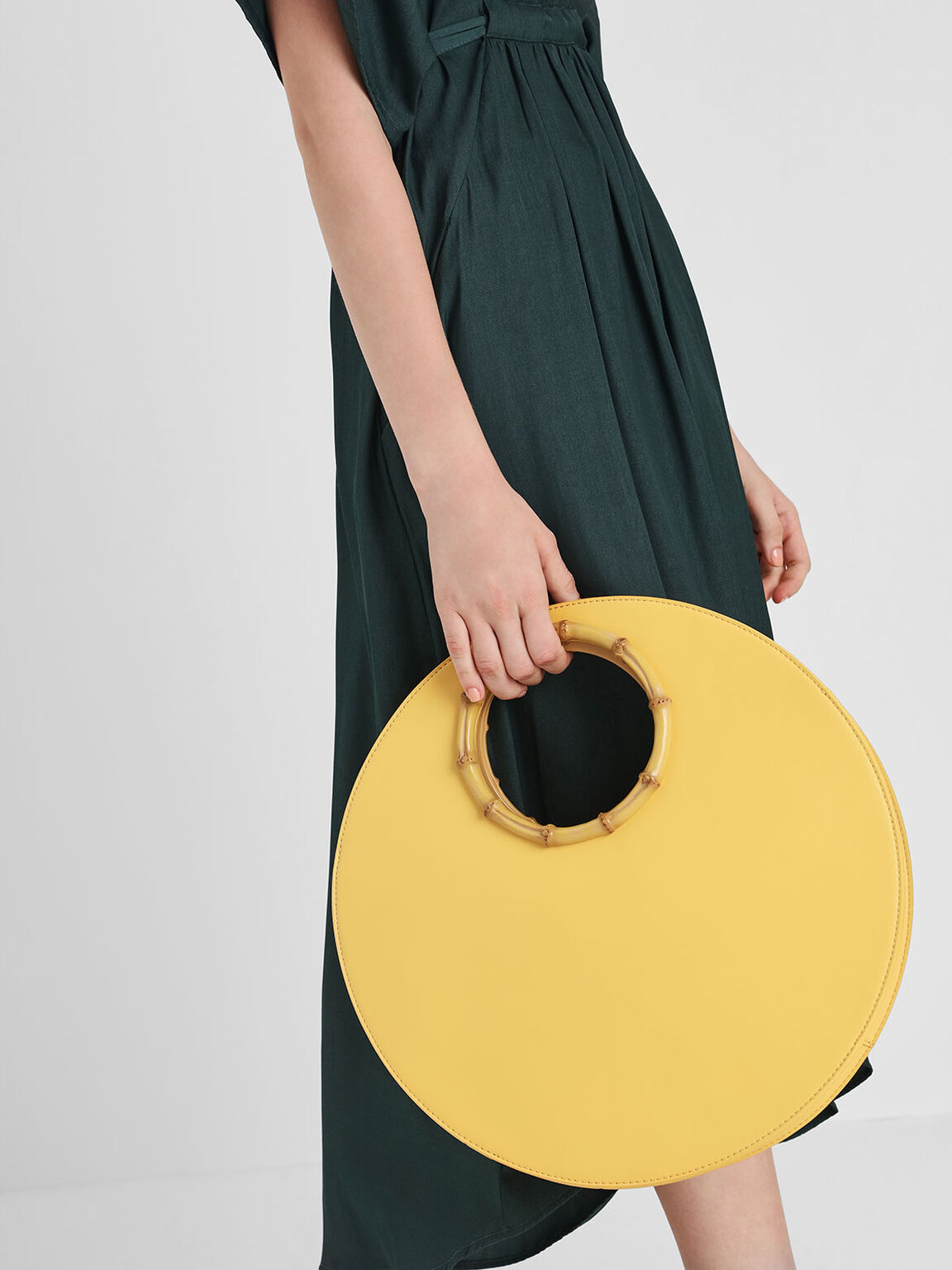 Circular Bag, Yellow, hi-res