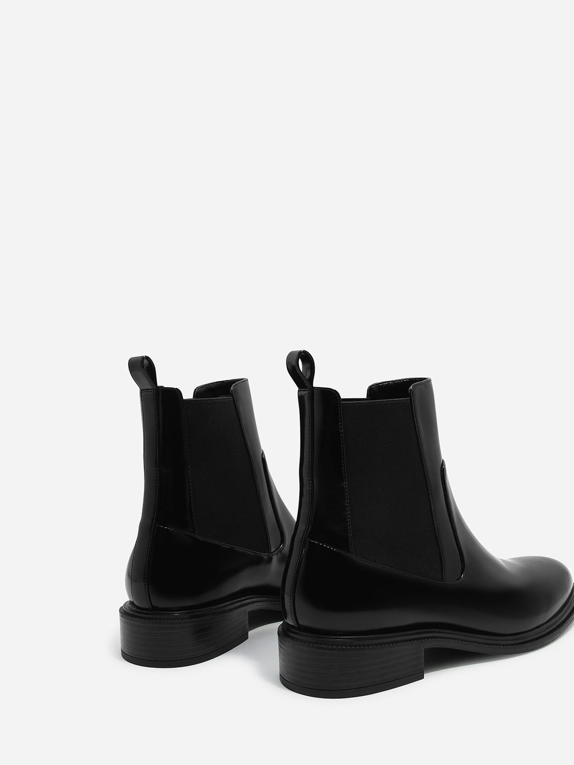 Basic Chelsea Boots, Black, hi-res
