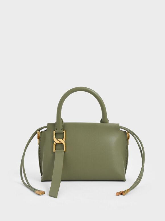 Fringe Detail Crossbody Bag, Olive, hi-res