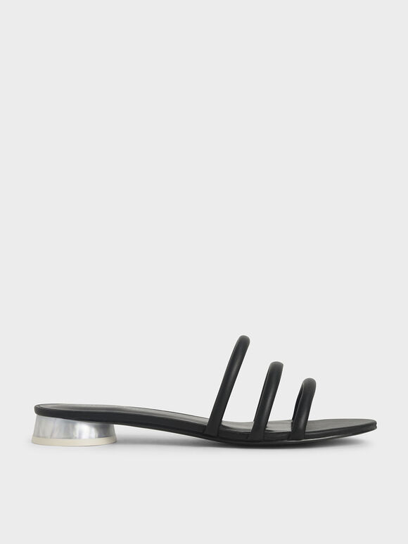 Tubular Mules, Black, hi-res