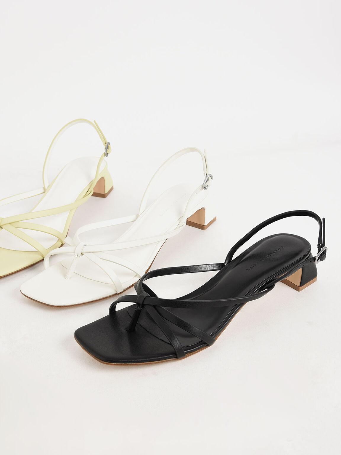 Strappy Sandals, Black, hi-res
