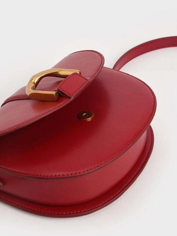 Gabine Saddle Bag, Red, hi-res