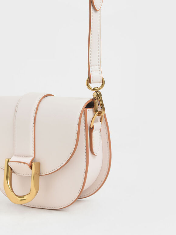 Mini Gabine Saddle Bag, Pink, hi-res