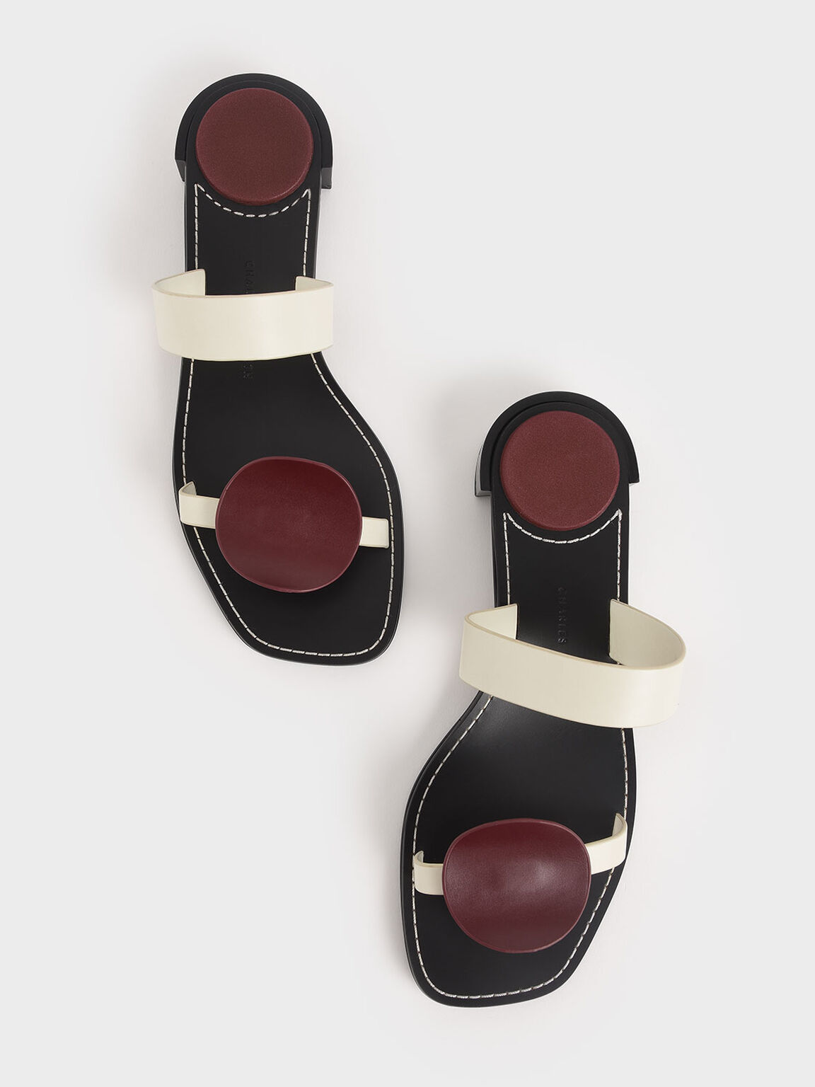 Double Strap Mules, Maroon, hi-res