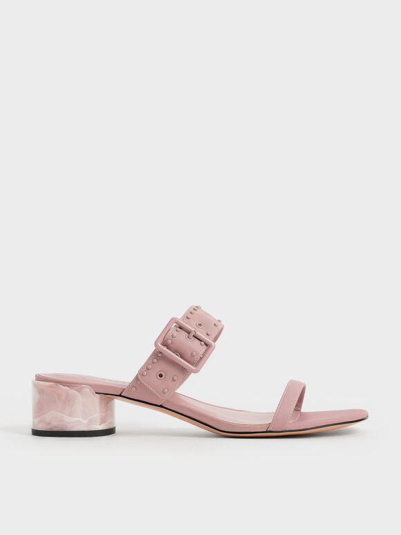The Anniversary Series: Sepphe Recycled Nylon Grommet Mules, Pink, hi-res