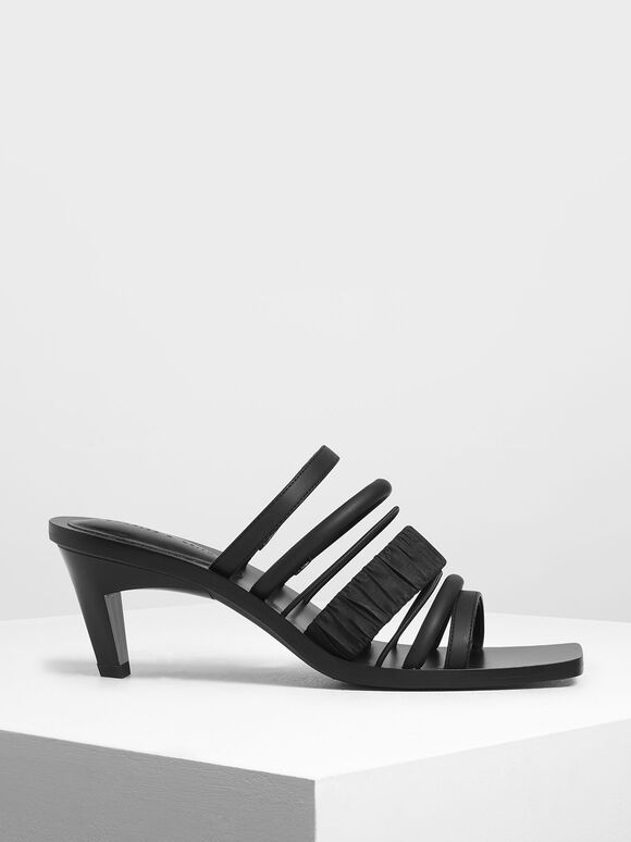 Strappy Heels, Black, hi-res
