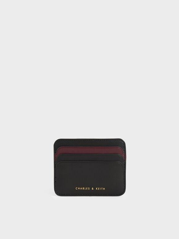 Two-Tone Multi-Slot Card Holder, Black, hi-res
