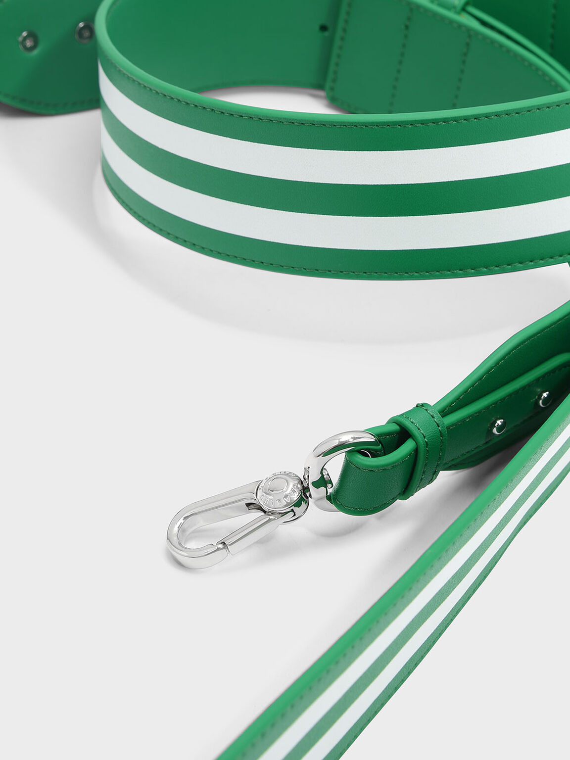 Elongated Detail Bag Strap, Green, hi-res