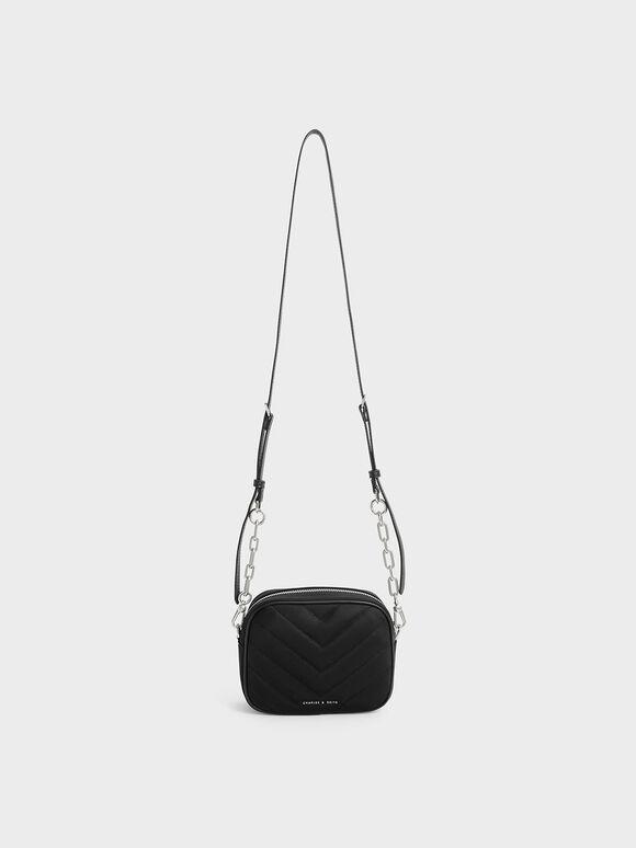 The Anniversary Series: Sonia Recycled Nylon Boxy Bag, Black, hi-res