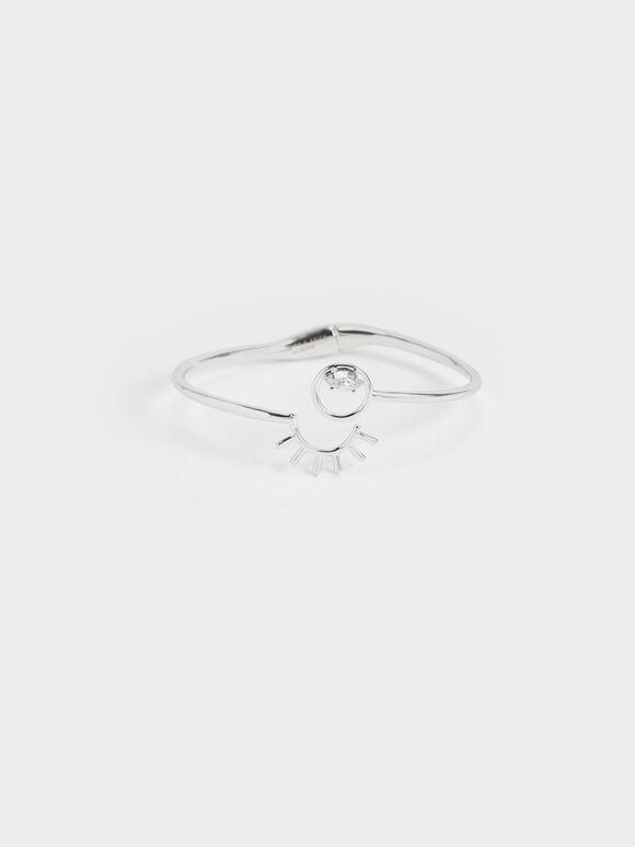 Swarovski® Crystal Cuff Bracelet, Silver, hi-res
