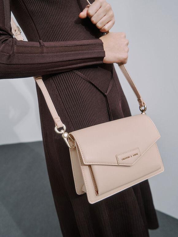Envelope Crossbody Bag, Nude, hi-res