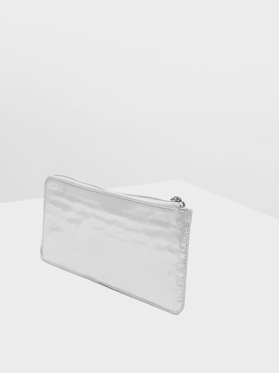 L-Zip Wallet, Silver, hi-res