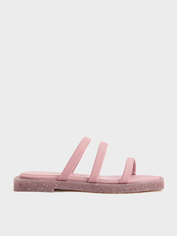 The Anniversary Series: Arabella Recycled Nylon Slide Sandals, Pink, hi-res