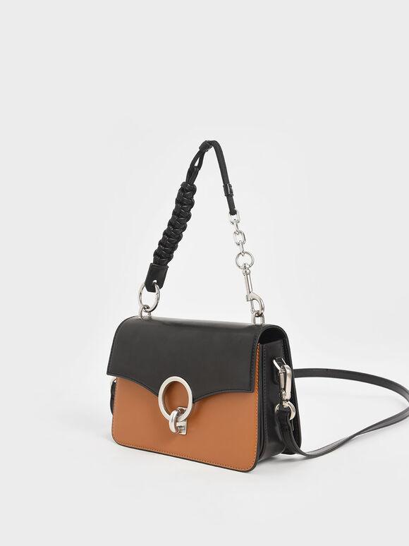 Turn-Lock Shoulder Bag, Multi, hi-res