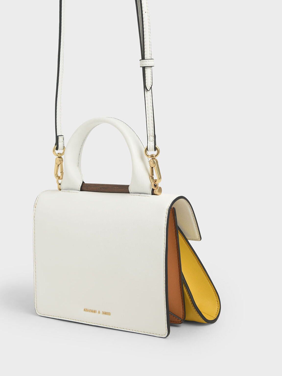 Small Two-Tone Sculptural Bag, Multi, hi-res
