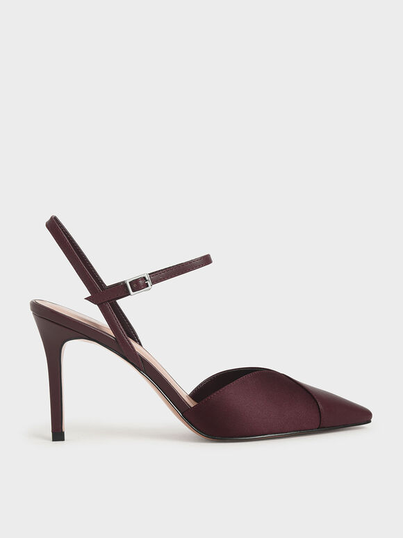 Ankle Strap Pumps, Prune, hi-res