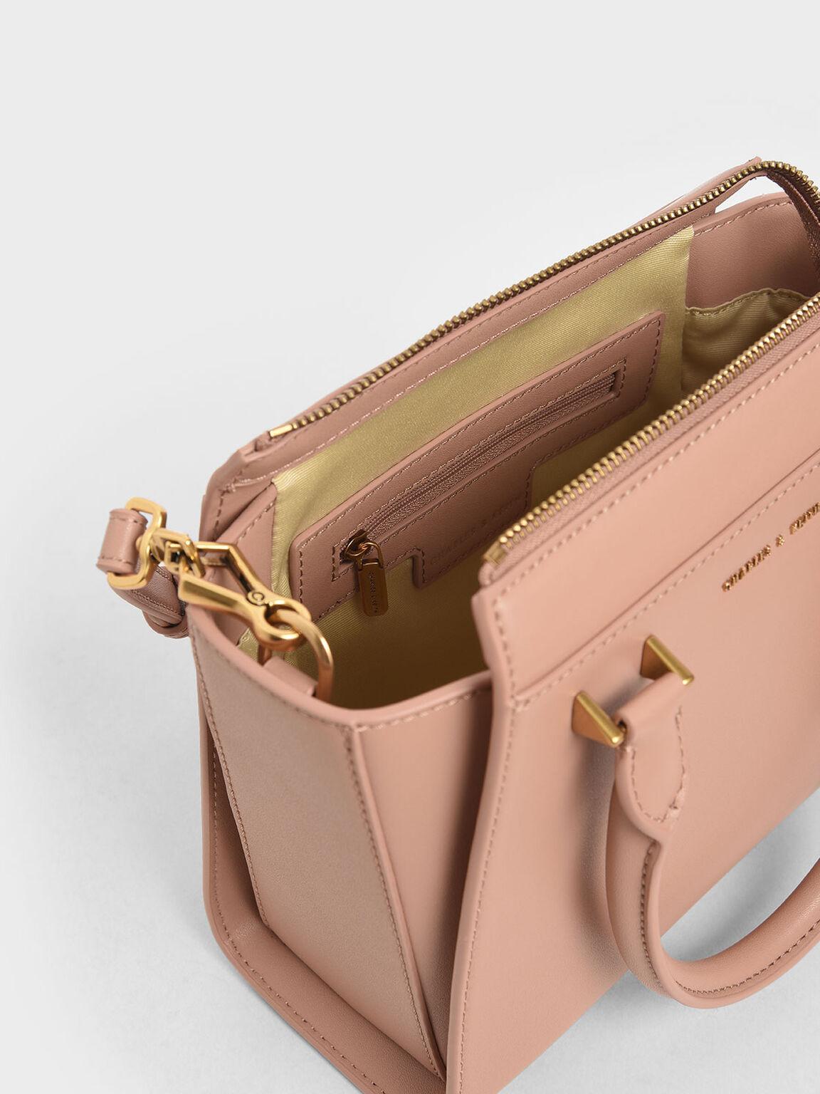 Structured Trapeze Bag, Blush, hi-res
