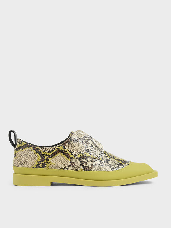Snake Print Loafers, Multi, hi-res