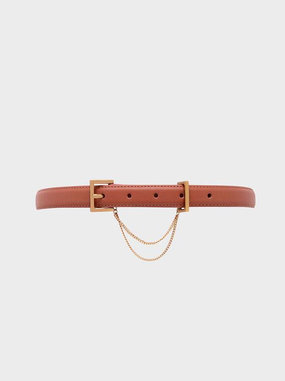 Chain Link Mid Waist Belt, Clay, hi-res