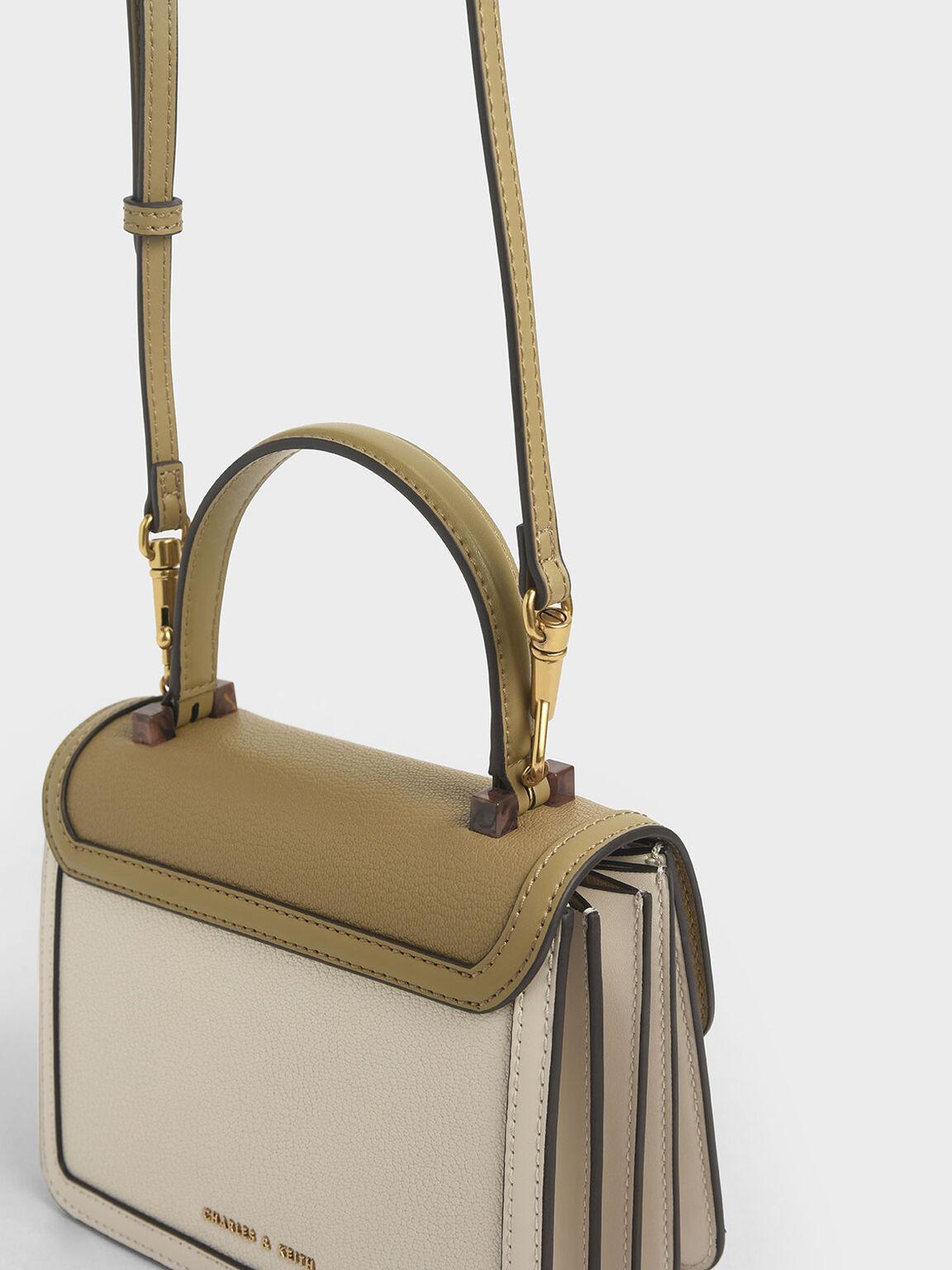 Small Chunky Chain Strap Bag, Cream, hi-res