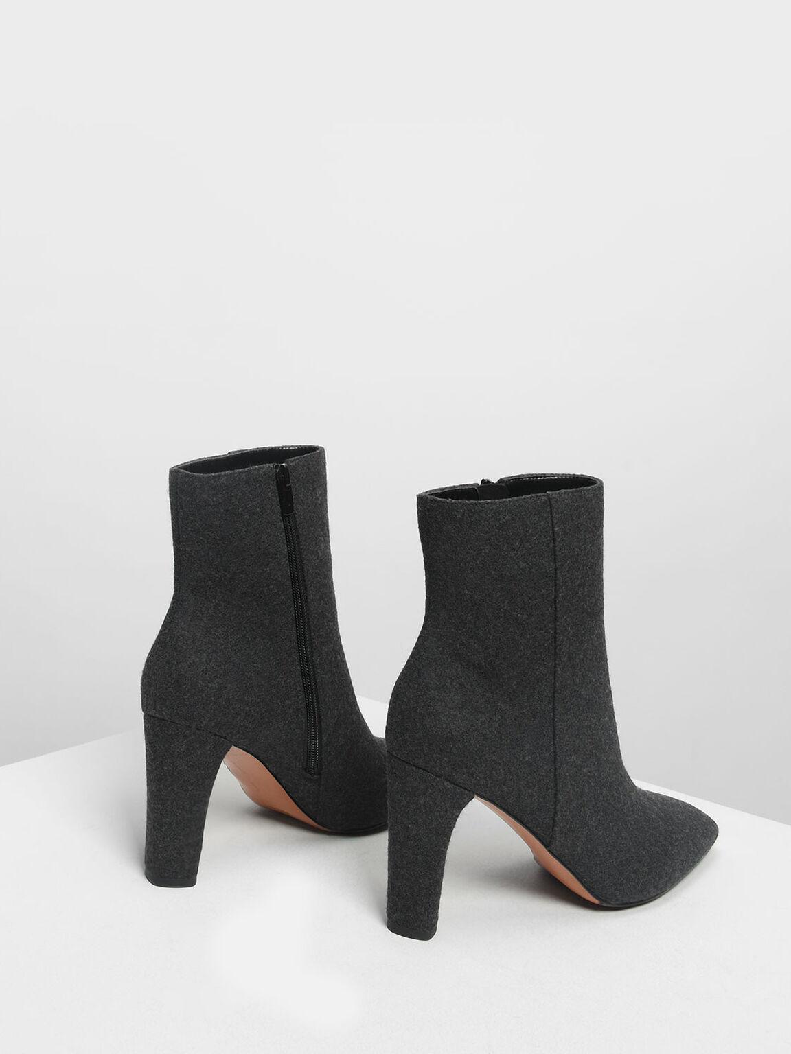 Classic Calf Boots, Black Textured, hi-res