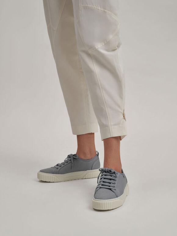 Cotton Low-Top Sneakers, Light Blue, hi-res