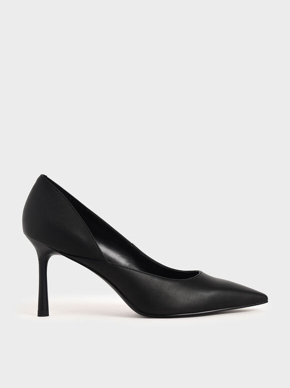 Stiletto Heel Pumps, Black, hi-res