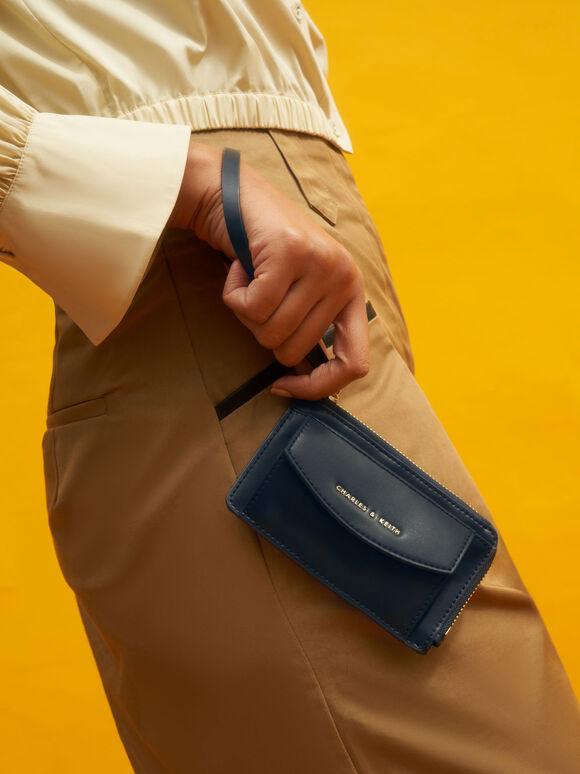 Wristlet Card Holder, Navy, hi-res