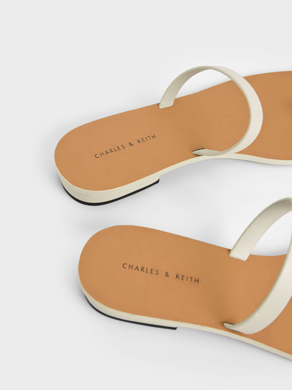 Toe Ring Flat Sandals, Chalk, hi-res