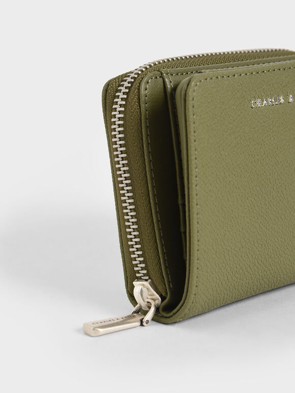 Small Zip-Around Wallet, Sage Green, hi-res