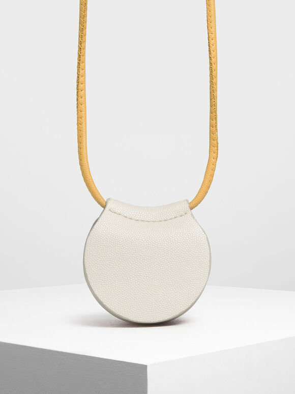 Two-Tone Necklace Bag, White, hi-res