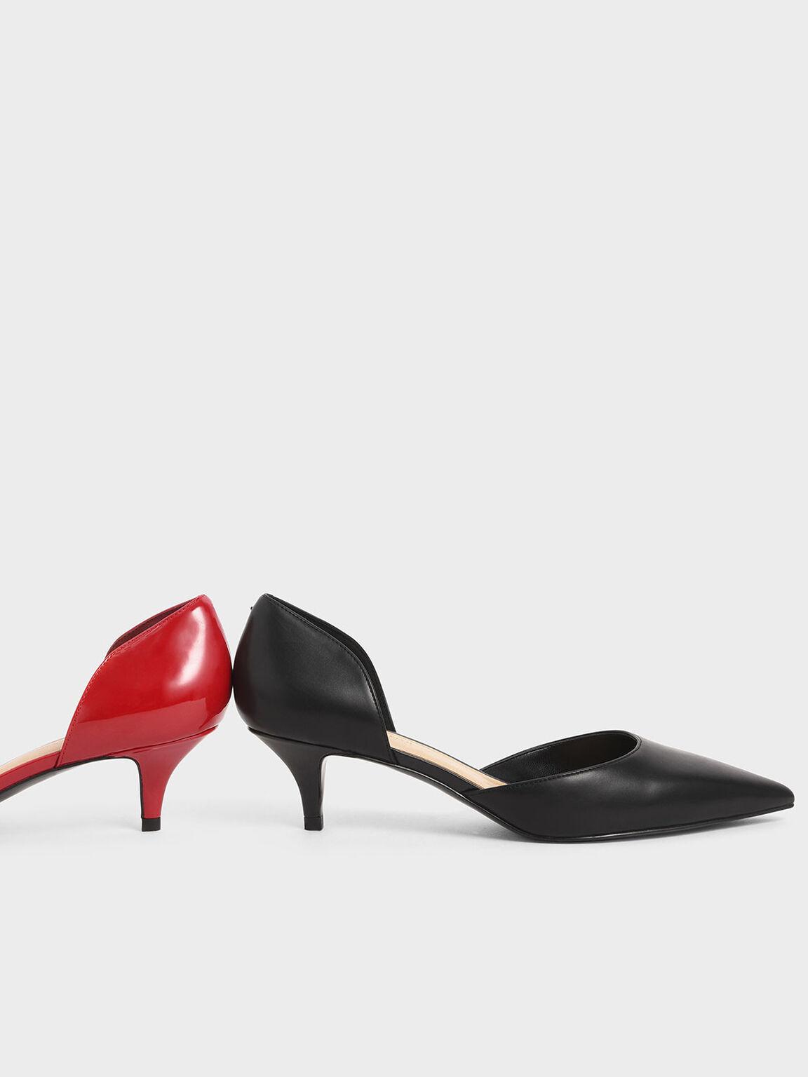 D'Orsay Kitten Heel Pumps, Black, hi-res