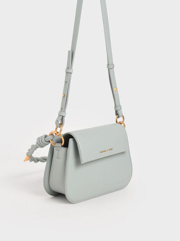 Twist Top Handle Bag, Light Blue, hi-res