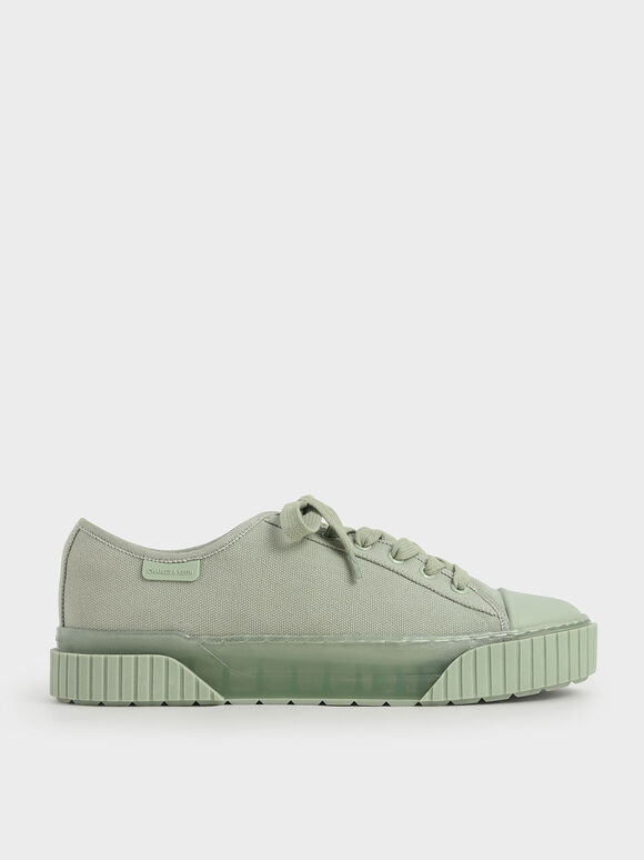 Purpose Collection 2021: Organic Cotton Platform Sneakers, Mint Green, hi-res