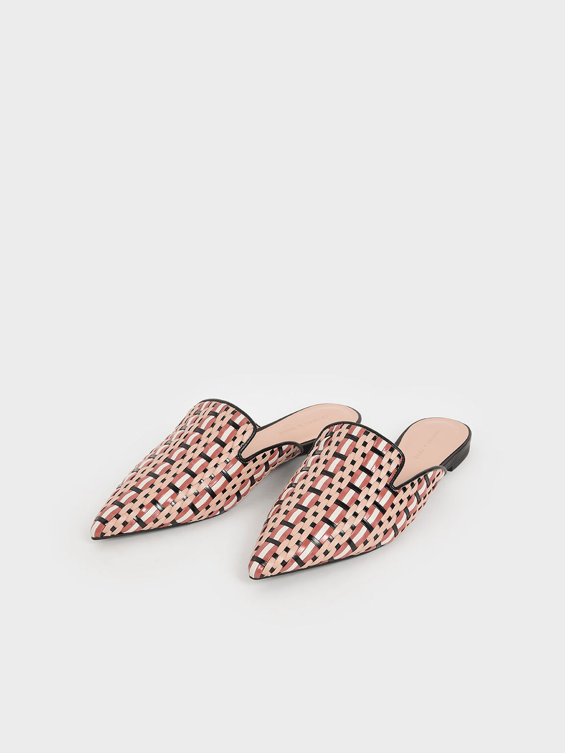 Multicoloured Woven Mules, Multi, hi-res