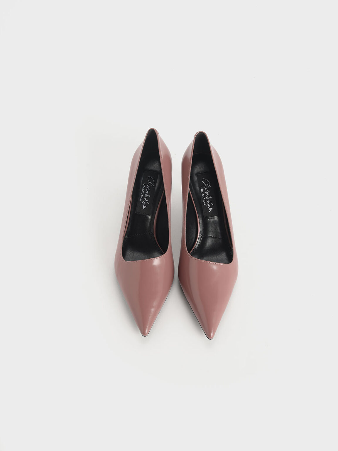 Asymmetric Leather Pumps, Blush, hi-res