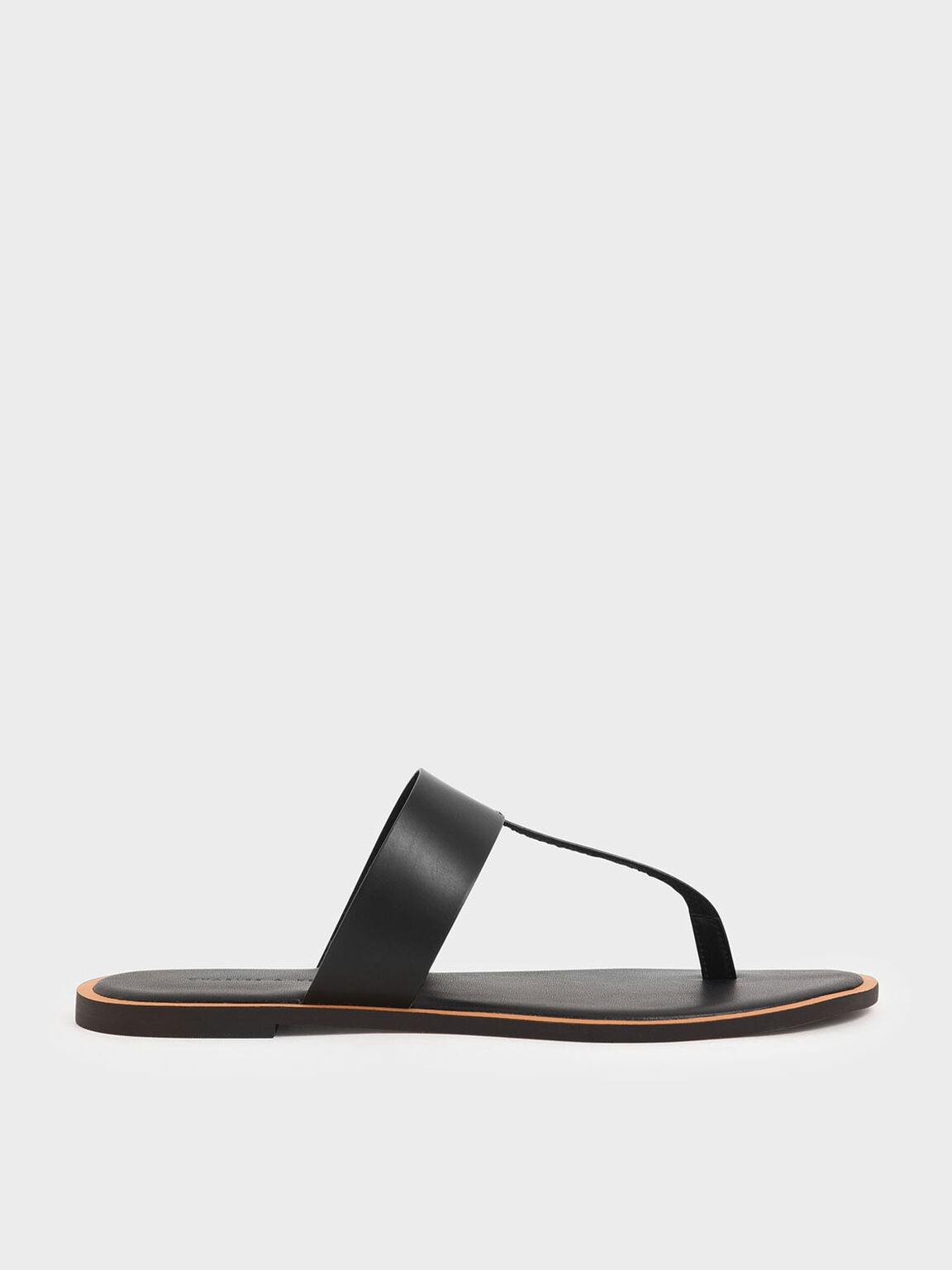 T-Bar Slide Sandals, Black, hi-res