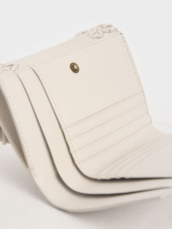 Stitch-Trim Short Wallet, Ivory, hi-res