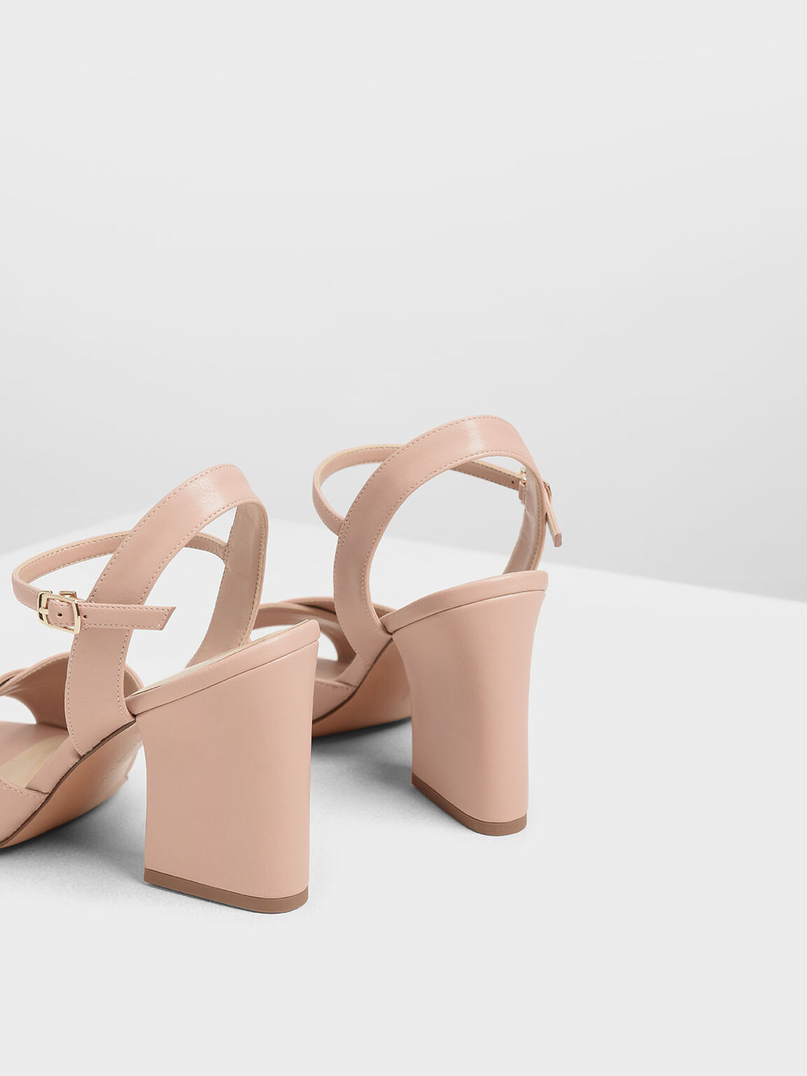 Criss Cross Block Heel Sandals, Blush, hi-res