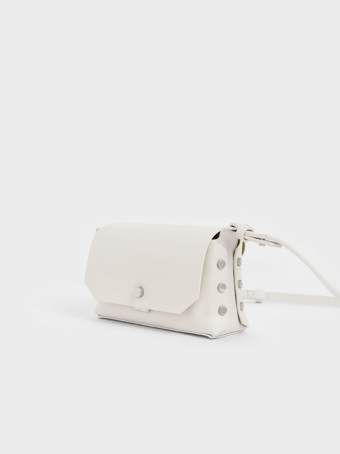 Mini Reversible Front Flap Crossbody Bag, Cream, hi-res