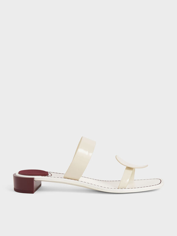 Double Strap Mules, Cream, hi-res